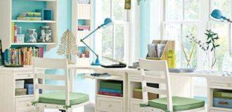 صندلی و میز تحریر دخترانه دانش آموزی با رنگ سفید