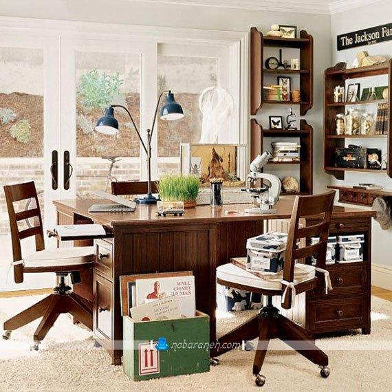 عکس و مدل میز تحریر چوبی برای اتاق خواب کودک نوجوان