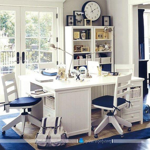 میز تحریر کودک و نوجوان با رنگ سفید
