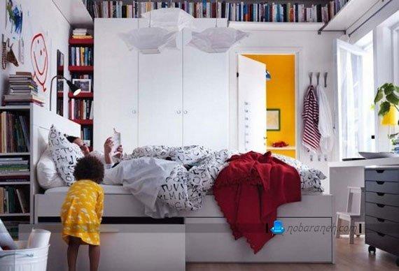 دیزاین و دکوراسیون شیک اتاق عروس با ایکیا ikea
