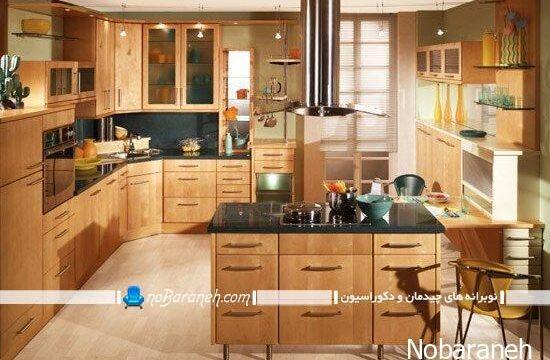 مدل آشپزخانه اپن و اصول چیدمان وسایل در آشپزخانه