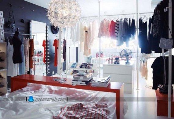 طراحی دکوراسیون فروشگاهی و بوتیکی در اتاق خواب به سبک ikea / عکس