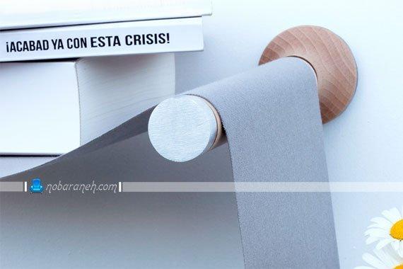 عکس و مدل کتابخانه چوبی و پارچه ای با طراحی جدید و ساده / عکس