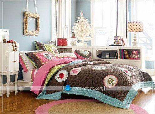 عکس و مدل طراحی دکوراسیون اتاق خواب به شکل دخترانه / عکس