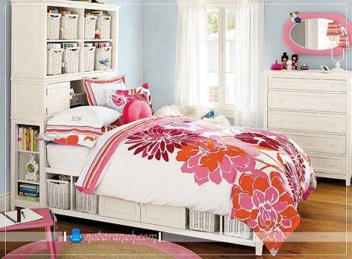 عکس و مدل تخت خواب دخترانه کلاسیک برای اتاق خواب نوجوانان / عکس