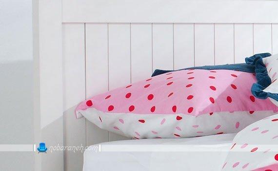 روتختی و روبالشتی صورتی و دخترانه برای تخت خواب اتاق کودک / عکس