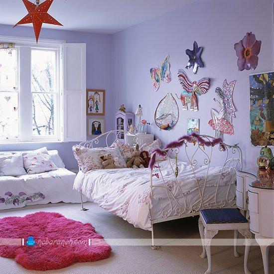 عکس و مدل تزیین دکوراسیون اتاق کودک دختر به شکل فانتزی و ارزان / عکس
