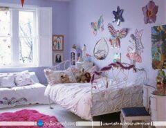 تزیین دیوار اتاق دختر کوچولوها به شکل فانتزی