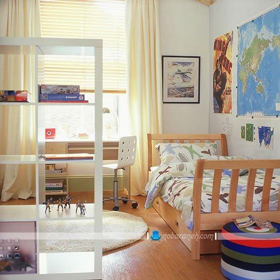 تزیین و چیدمان شیک و ساده در اتاق خواب پسرانه / عکس