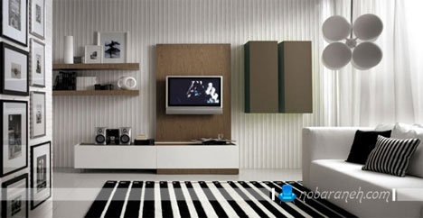 مدلهای جدید و مدرن شلف و باکس تلویزیون دیواری