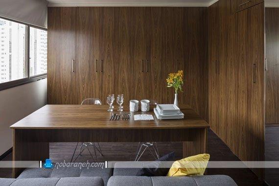 طراحی دکوراسیون داخلی خانه کوچک با چوب
