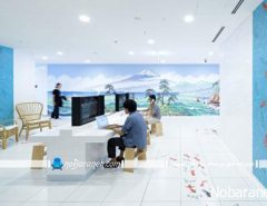 دیزاین و طراحی دکوراسیون اداری مدرن در دفاتر گوگل