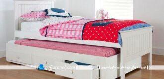 مدل جدید تخت خواب کمجا و کشودار اتاق بچه