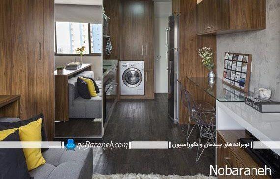 کفپوش چوبی خاکستری رنگ در دکوراسیون داخلی