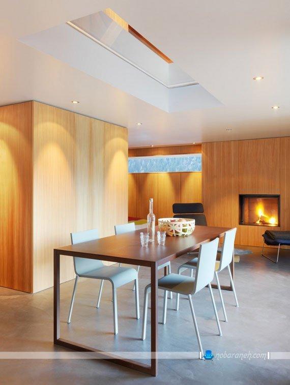 طراحی دکوراسیون چوبی و شیشه ای منزل
