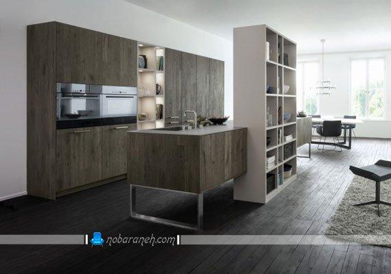 مدل نورپردازی ساده و مدرن کابینت آشپزخانه