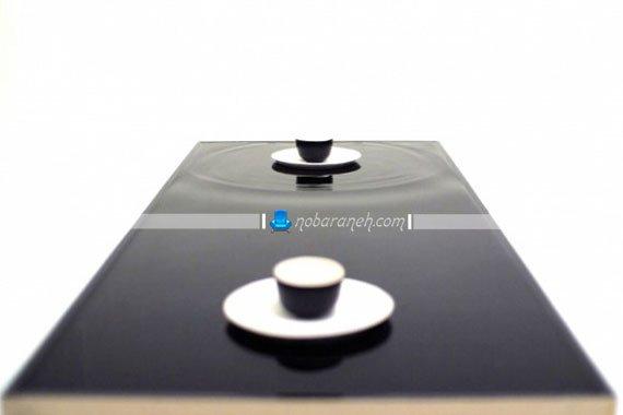 میز جلو مبلی و قهوه خوری با رویه موج دار / عکس