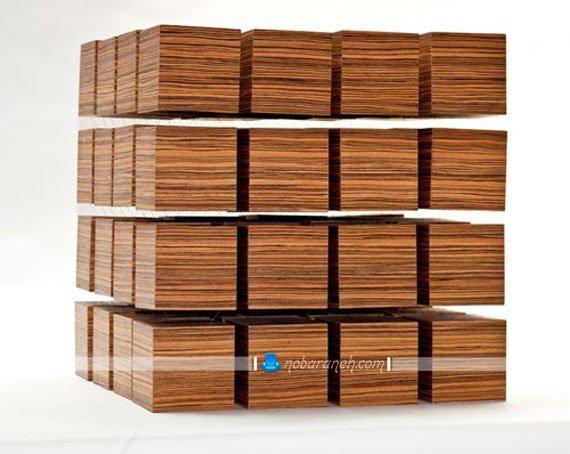 میز تلفن چوبی با طراحی جدید و ظریف / عکس