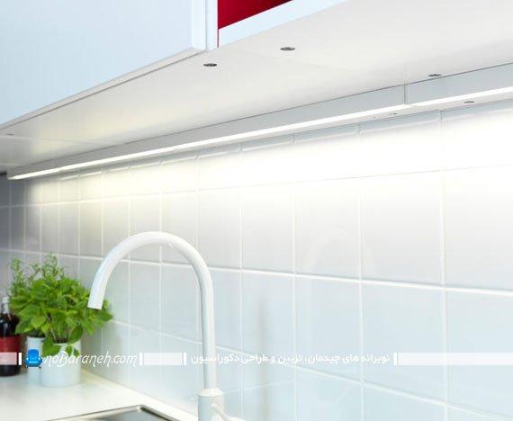 مدل جدید نورپردازی کابینت آشپزخانه