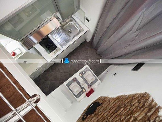 چیدمان و طراحی دکوراسیون مناسب برای آشپزخانه کوچک / عکس