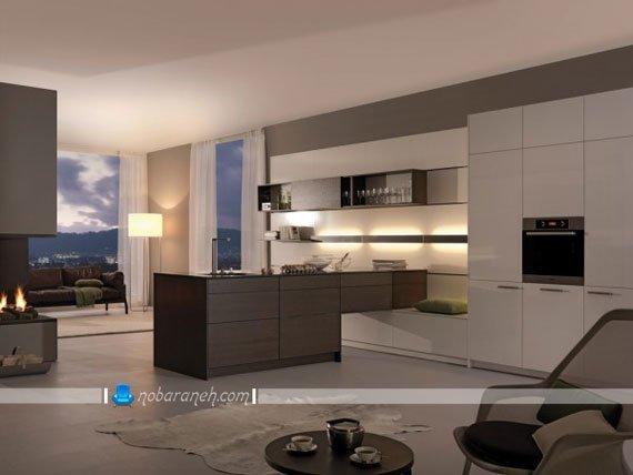 تزیین دکوراسیون آشپزخانه با نورپردازی کابینت آشپزخانه