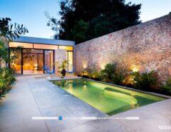 تزیین و دیزاین دکوراسیون و نمای خارجی خانه با نورپردازی