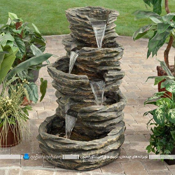 عکس و مدل آبنما خانگی دکوراتیو ساده و کوچک آبشاری / عکس
