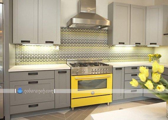 کاشی طرحدار آشپزخانه با رنگ بندی شاد، مدل های جدید کاشی و سرامیک دیواری آشپزخانه