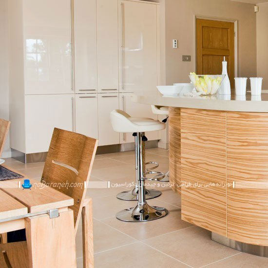 میز اپن آشپزخانه با طرح و مدل هلالی / عکس