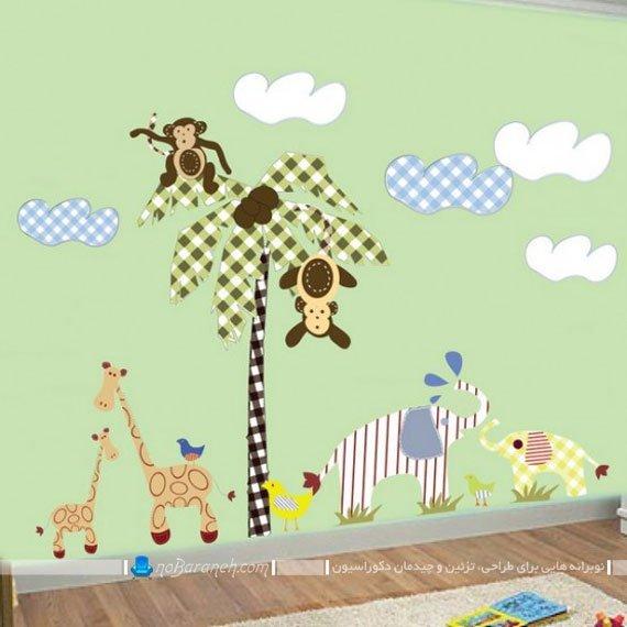 تزیین اتاق کودک با استیکرهای طرح حیوانات با مزه