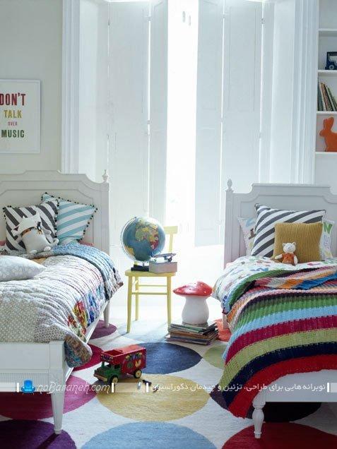 طراحی دکوراسیون اتاق کودک دو قلو