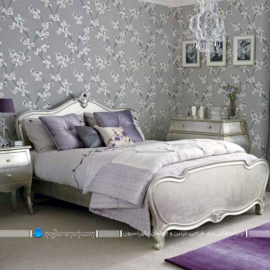 دیزاین سلطنتی اتاق عروس با رنگ نقره ای