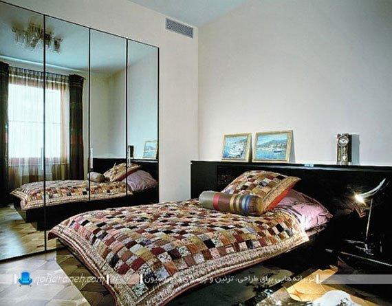 آینه کاری کمد اتاق خواب