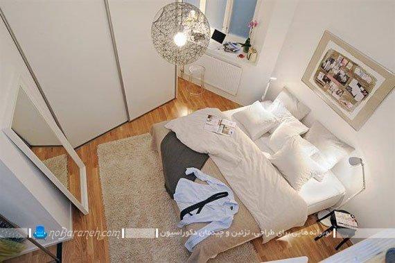 اتاق خواب عروس با طراحی دکوراسیون ساده و زیبا / عکس