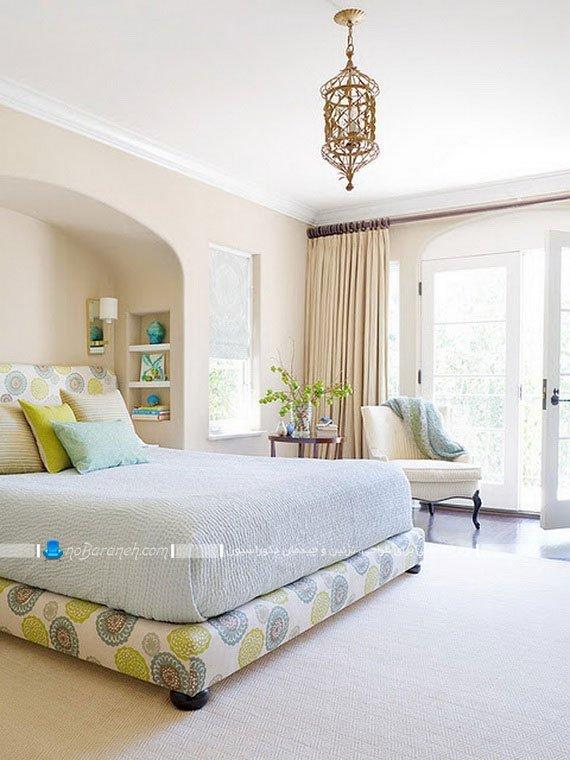 رنگ آمیزی اتاق خواب با آبی روشن