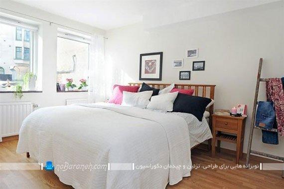 تزیین اتاق خواب عروس با رنگ های روشن / عکس