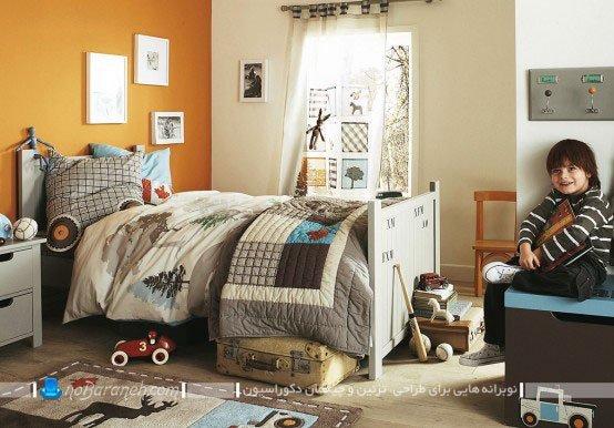 تزیین پسرانه شیک و زیبا در اتاق کودک / عکس