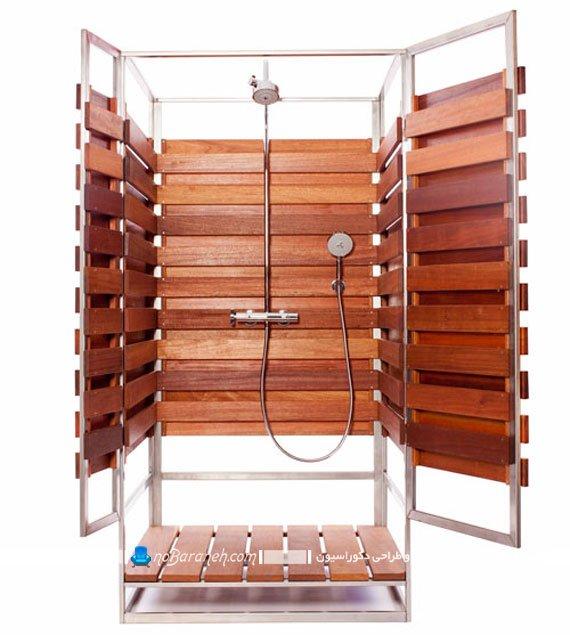 مدل های جدید حمام چوبی قابل جابجایی، طرح جدید حمام و اتاق دوش / عکس
