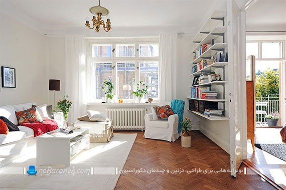 چیدمان کاناپه و مبل تک نفره در خانه و منزل / عکس