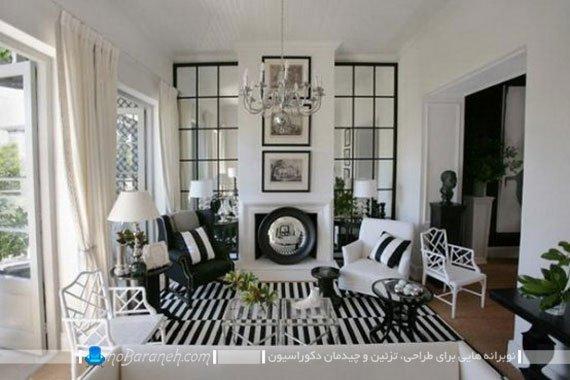 تزیین شیک و کلاسیک اتاق پذیرایی با رنگ سیاه یا مشکی