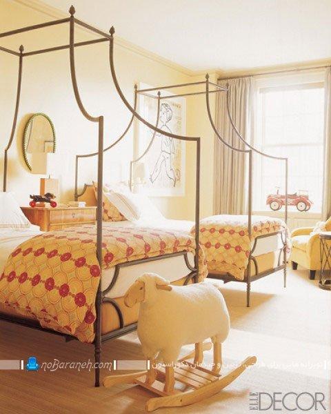 عکس و مدل تخت خواب بچه با طراحی کلاسیک و فریم فلزی / عکس