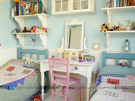 تزیین کلاسیک و فانتزی اتاق خواب دختر بچه ها / عکس