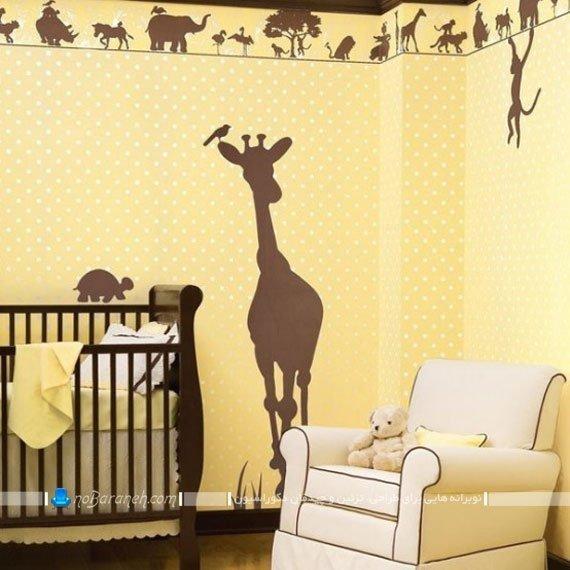 تزیین اتاق بچه با استیکر باغ وحش
