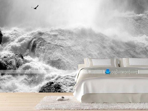 پوستر دیواری منظره و دریا برای اتاق خواب و تزیین دیوار پشت تخت خواب