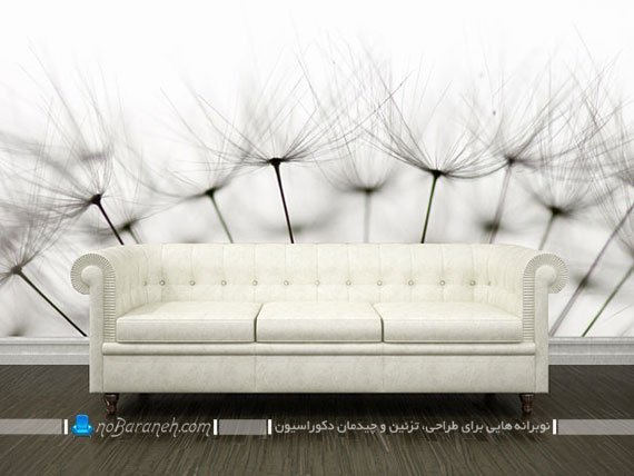 نصب پوستر کومار در پذیرایی با طرح گل دندلیون