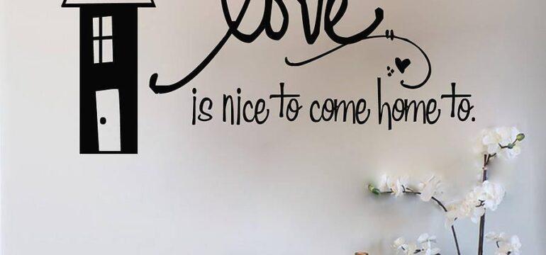 استیکر تزیینی دیواری با متن زیبا و عاشقانه