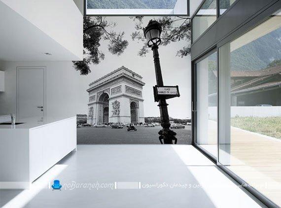 مدل پوستر کومار با نمایی از شهر پاریس