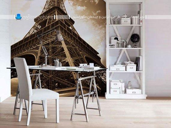 مدل برچسب دیواری تزیینی خانگی با طرح ایفل