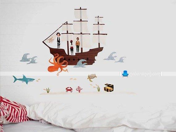 عکس و مدل های تزیین اتاق خواب بچه ها با استیکر / عکس