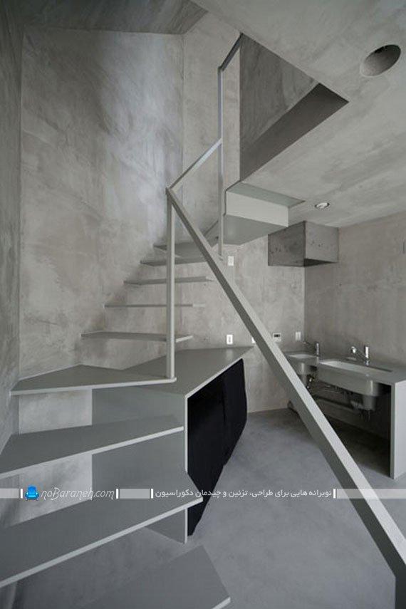 مدل راه پله دوبلکس با طراحی ساده و ظریف